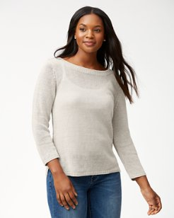 Cedar Linen Boatneck Sweater