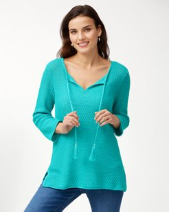 Lattice Stitch Sweater Tunic