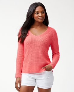 Cabana Cotton V-Neck Sweater