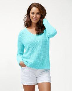 Cabana Cotton V-Neck Sweater