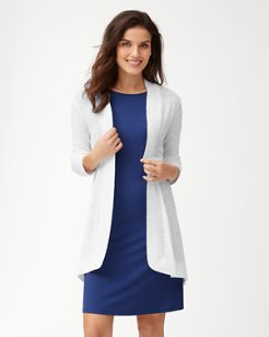 Long Lea Open Linen Cardigan