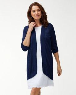 Long Lea Open Linen Cardigan