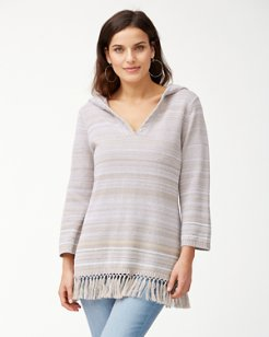 Anacapa Fringe Linen-Blend Sweater