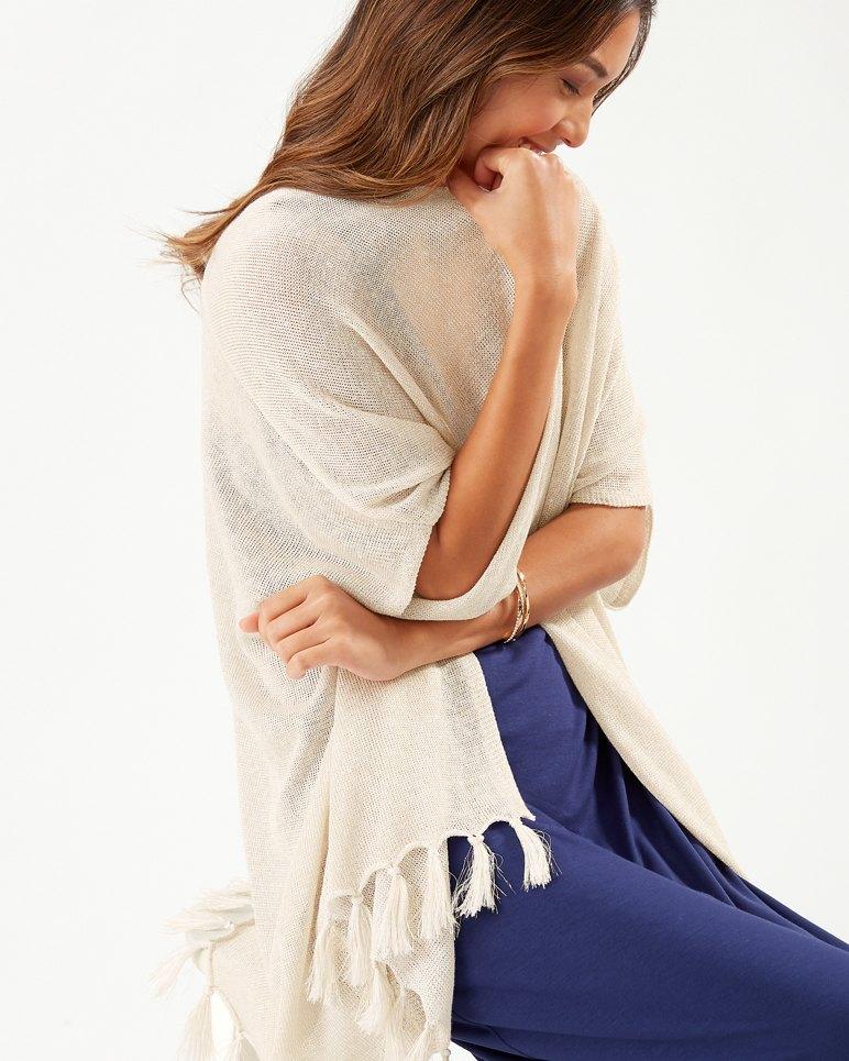 Main Image for Shimmer Lea Linen Fringe Cardigan