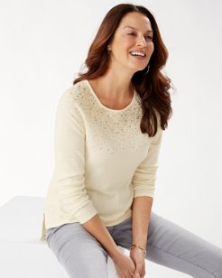 Silver Vista Long-Sleeve Sweater
