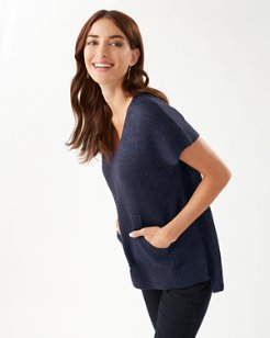 Solana Sequin V-Neck Sweater