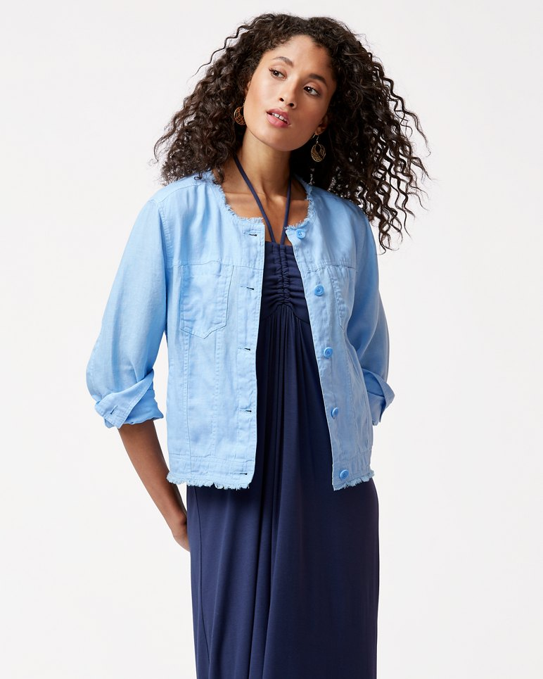 Two Palms Linen Jacket
