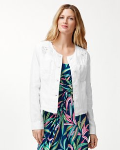 Two Palms Beach Blossom Linen Jacket