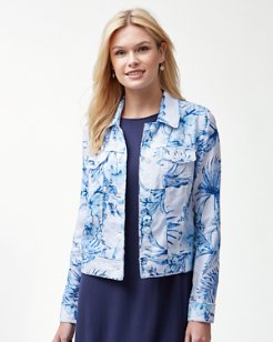 Tulum Tropical Linen Jacket