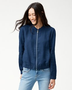 Two Palms Linen Bomber Jacket