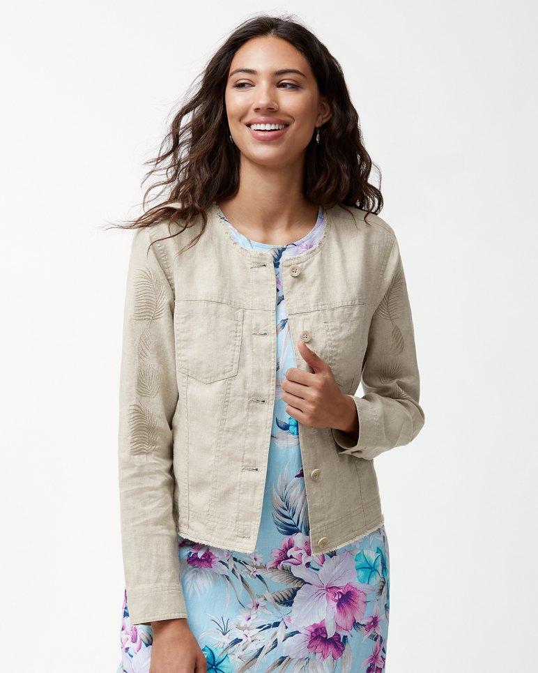 Main Image for Two Palms Fan Fettie Linen Jacket