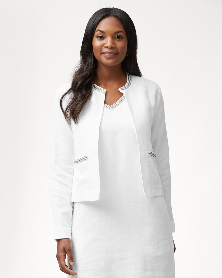 Main Image for Luxe Linen Embellished Jacket