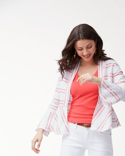 Marcella Stripe Linen Jacket