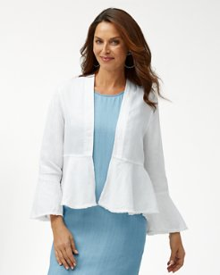 Two Palms Open Linen Jacket