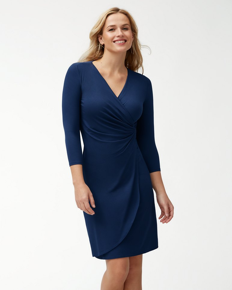 Main Image for Tambour 3/4-Sleeve Wrap Dress