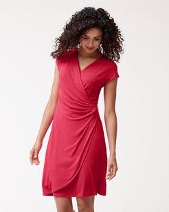 Tambour Side-Gathered Dress