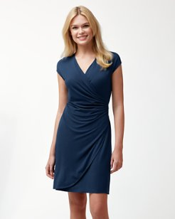 Tambour Side-Gathered Dress