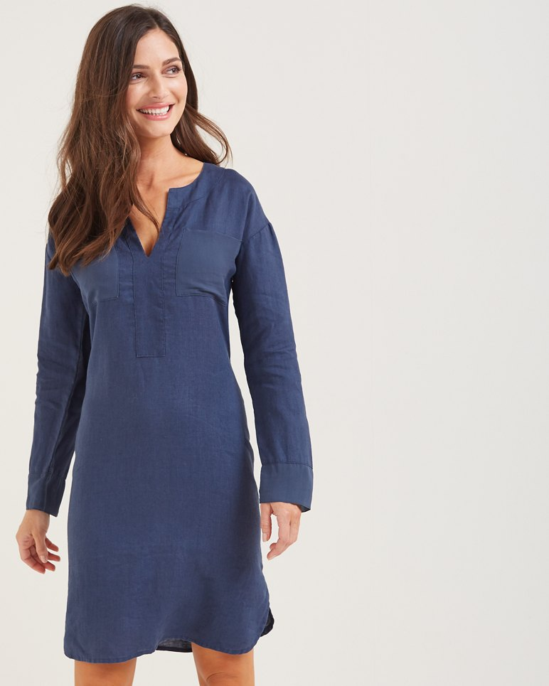 87640c700c Main Image for Two Palms Linen Shirt Dress