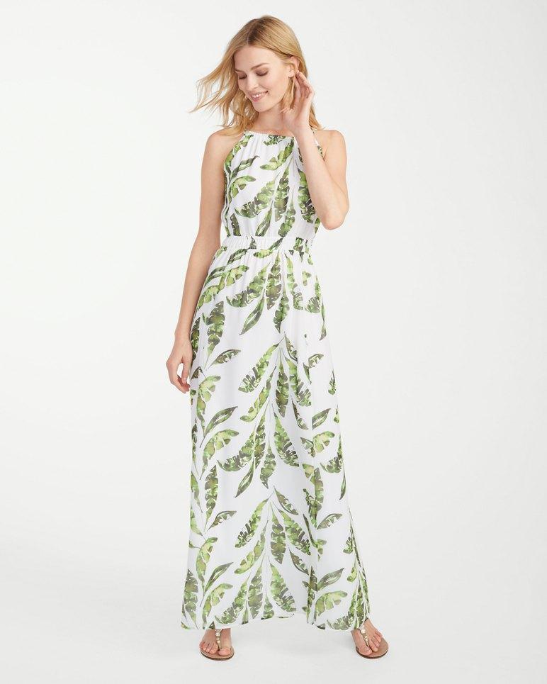Main Image for Watercolor Palmier Empire Maxi Dress