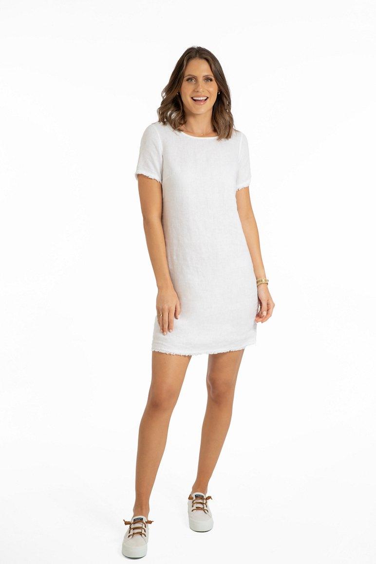 Two Palms Linen T Shirt Dress
