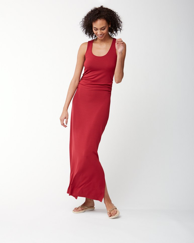 Main Image for Tambour Ruched Tank Maxi Dress