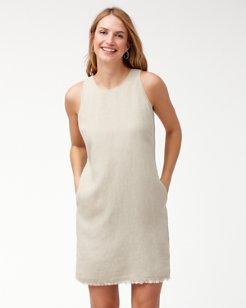 Two Palms Linen Shift Dress
