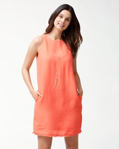 Two Palms Linen Shift Dress