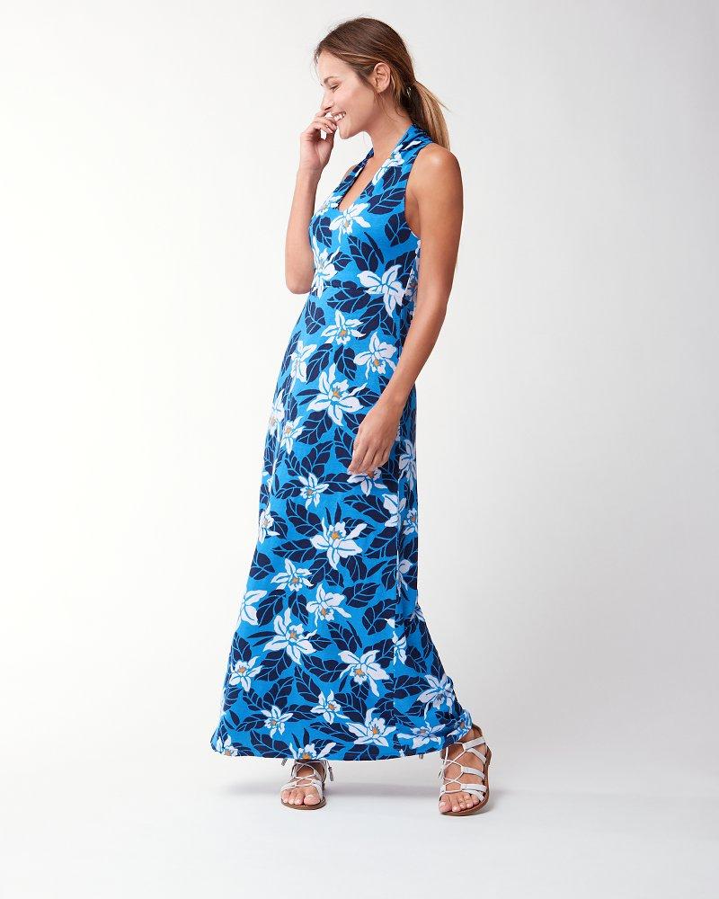 Botanical blooms maxi dress