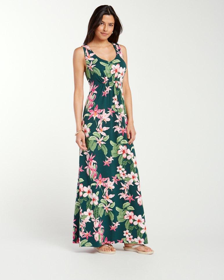 Le Tigre Orchid Tambour Maxi Dress