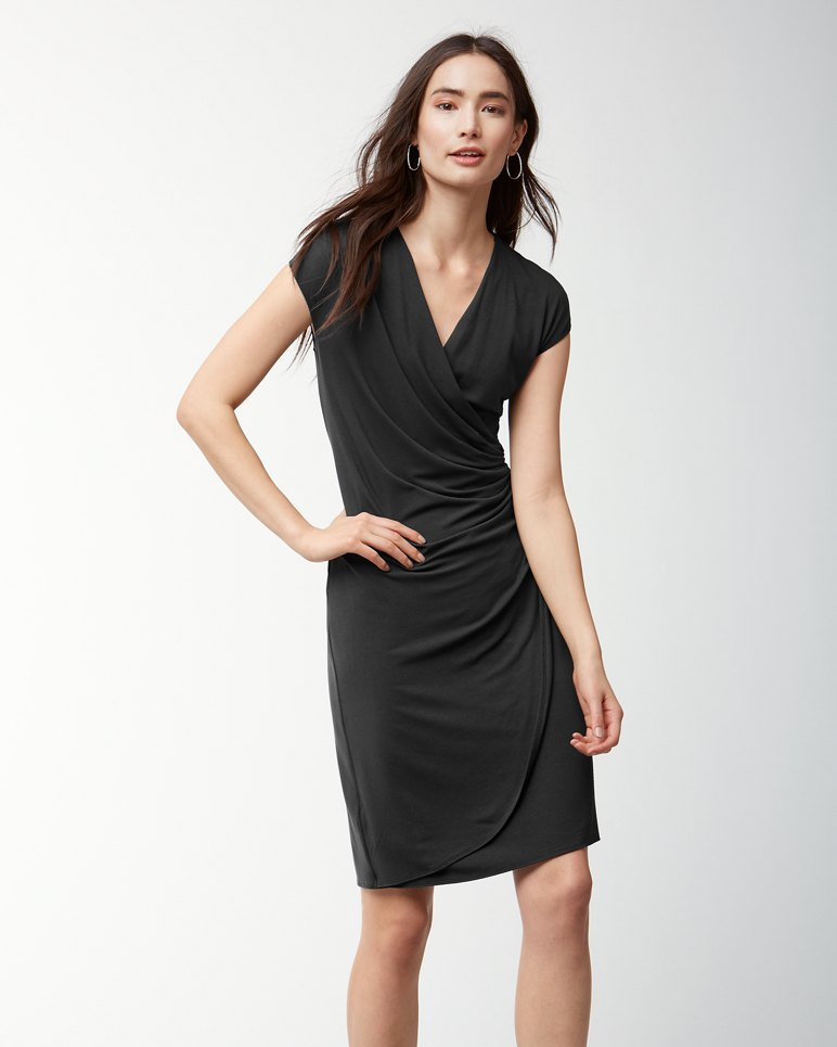 Main Image for Tambour Faux-Wrap Dress
