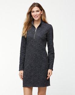 Marled Flip Side Reversible Half-Zip Dress