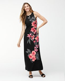 Bedoin Blossoms Tambour Maxi Dress