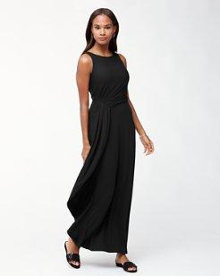 Tambour Draped Maxi Dress