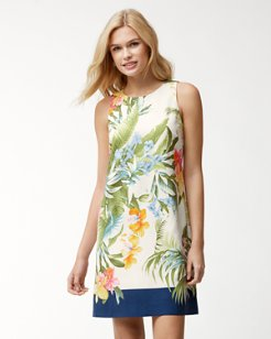 Madeira Blooms Silk Shift Dress
