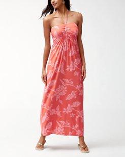 Hibiscus Hiatus Tambour Maxi Dress