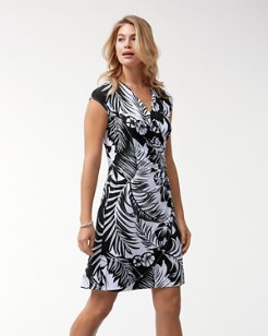 Let's Be Fronds Tambour Dress