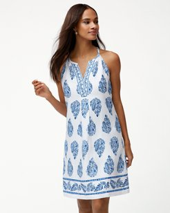 Paley's Paisley Linen Shift Dress
