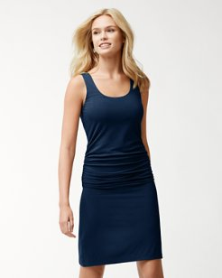 Tambour Ruched Dress