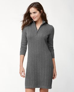 Pickford Cable Half-Zip Dress