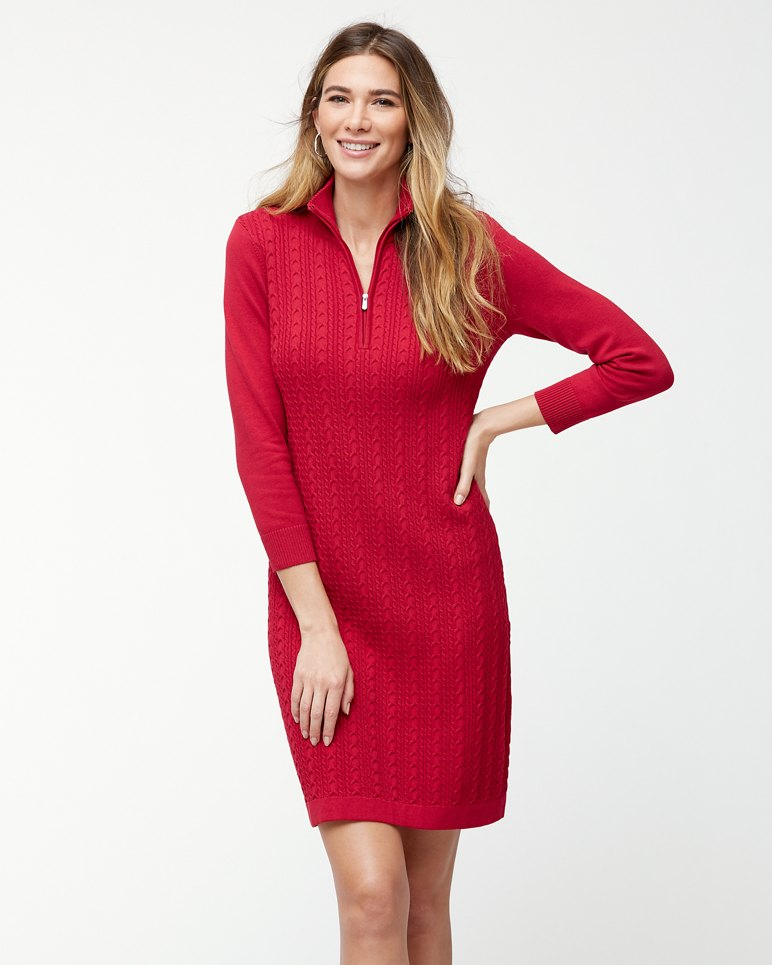 Pickford Cable Half Zip Dress
