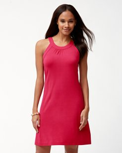 Tambour Halter Dress