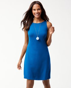 Tambour Sleeveless Shift Dress