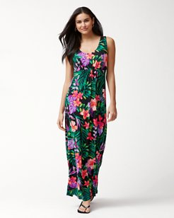 Marabella Blooms Tambour Maxi Dress