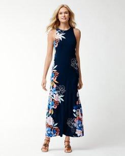 Hibis-Sketch Tambour Maxi Dress