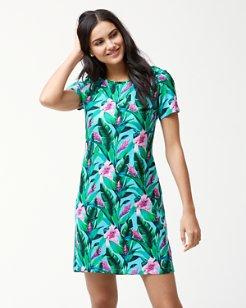 Tulum Blooms T-Shirt Dress