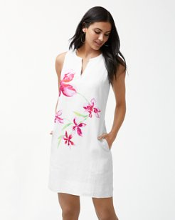 Floral Fade Linen Shift Dress