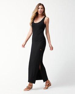 Tambour Shirred Maxi Dress