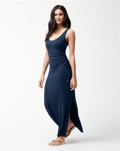 Tambour Shirred Maxi Dress