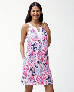 Bohemian Blossoms Linen-Blend Shift Dress