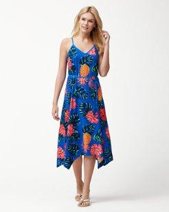 Piña Cool-Ada Midi Dress